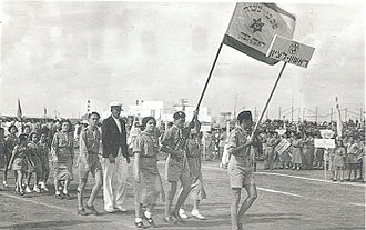 History of the Maccabiah - The Rishon LeZion delegation to the 1st Maccabiah; 1932.