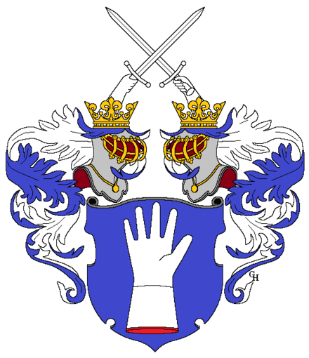 Meinong von Handschuchsheim family arms, granted with the title of Ritter in 1851.