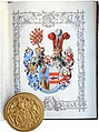 Ritterstandsdiplom - Ulrich von Jornstorf 1899 - Wappen.jpg