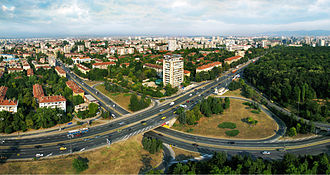 Tsarigradsko shose - Image: Road junction @ Sitnyakovo blvd, Sofia