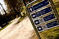 Road signs at intersecting cyclist paths in Odense.jpg