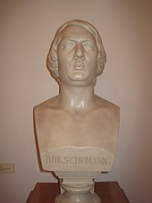 Bust of Robert Schumann in the museum of Zwickau (Source: Wikimedia)