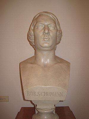 Robert Schumann - Bust of Robert Schumann in the museum of Zwickau