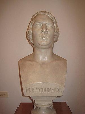 Robert Schumann - Bust of Robert Schumann in the museum of Zwickau