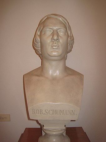 Bust of Robert Schumann in the museum of Zwickau Rob.Schumann.JPG