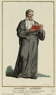Robert de Sorbon French theologian, the chaplain of Louis IX of France and founder of the Sorbonne college in Paris