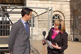 Carolyn Quinn - Quinn (right) interviews Robin Niblett