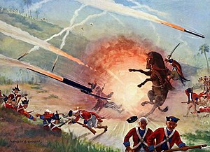 Battle of Pollilur (1780) - The Battle of Pollilur, where the forces of Hyder Ali effectively used Mysorean rockets and rocket artillery against closely massed British forces.