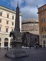 Roma - Piazza della Minerva - Elephant of Bernini & obelisk - view towards the Pantheon (in the background) - panoramio.jpg