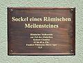 Roman milestone - plaque, Römerstraße, Timelkam.jpg