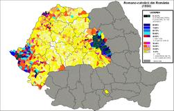 Romano-catolici Romania (1930).png