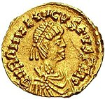 Romulus Augustus on a gold Tremissis