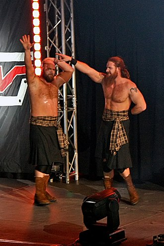 The Highlanders (professional wrestling) - Rory (left) and Robbie McAllister in 2007.