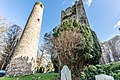 Round tower and belfry at St. Columba's Church in Swords, Dublin -148784 (40055241653).jpg