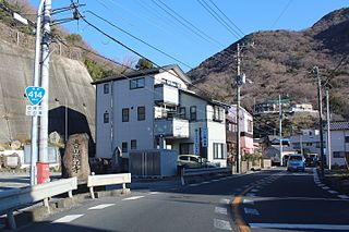 Japan National Route 414 road in Shizuoka prefecture, Japan