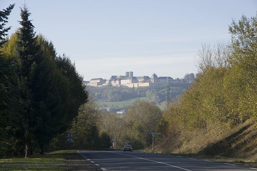 Route de Langres - View SW on Langres