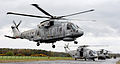 Royal Navy Merlin Helicopter with CHF During Exercise Scottish Lion MOD 45153930.jpg
