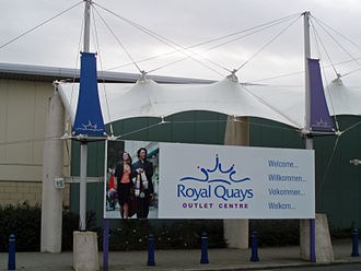 North Shields - Royal Quays Retail Park, an outlet shopping centre located at North Shields