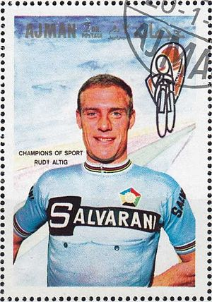 Rudi Altig - Altig on a 1969 UAE stamp