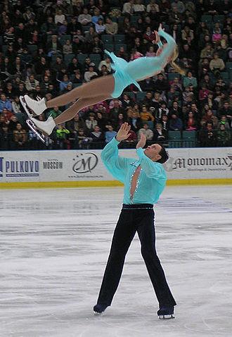 Tatiana Totmianina - Totmianina and Marinin perform a twist lift at Russian Nationals in January 2005