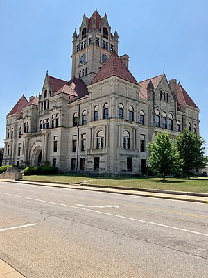 The Rush County Courthouse in Rushville