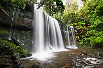 English: Russell Falls, Mt Field National Park...