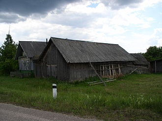Nevelsky District, Pskov Oblast - Wooden houses in the village of Kovalikha