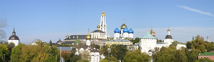 Russia-Sergiev Posad-Troitse-Sergiyeva Lavra Panorama