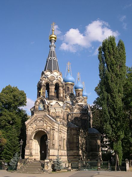 Russian Orthodox church in Dresden, built in the 1870s Russisch Orthodoxe Kirche Dresden.JPG