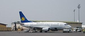 Kigali International Airport - Rwandair Express Boeing 737-500