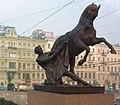 S. Pietroburgo - Uno dei 4 domatori di cavalli sul Ponte Anichkov. Opera dello scultore Klodt - panoramio.jpg