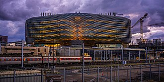Adelaide Metro - A train passing the South Australian Health and Medical Research Institute (SAHMRI).