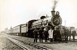 South African Class 19C 4-8-2 - Class 19C after a record speed test run