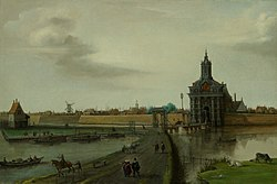 Hendrik Cornelisz. Vroom: Gezicht op de Haarlemmerpoort