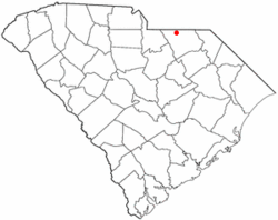Location of Mount Croghan, South Carolina