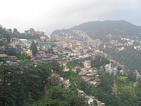 Shimla city view from the railway station
