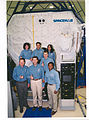 STS-107 Crew in front of SPACEHAB - GPN-2003-00073.jpg