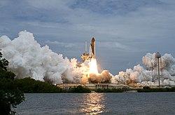 STS-135 begins takeoff