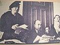 Sabiha Sertel defending herself at trial, March 1946.jpg
