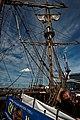 Sail Amsterdam - De Ruyterkade - View East on Frigate Shtandart 1703 - Replica 1999 the first ship of Czar Peter I's Baltic Fleet II.jpg