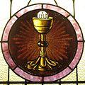 Saint Joseph Catholic Church (Wapakoneta, Ohio) - stained glass, Eucharistic chalice and host.jpg
