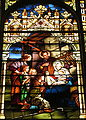 Saint Mary Catholic Church (Dayton, Ohio) - stained glass, Adoration of the Shepherds - detail.JPG