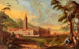 Salem, Baden-Württemberg - Salem Abbey, ca. 1765