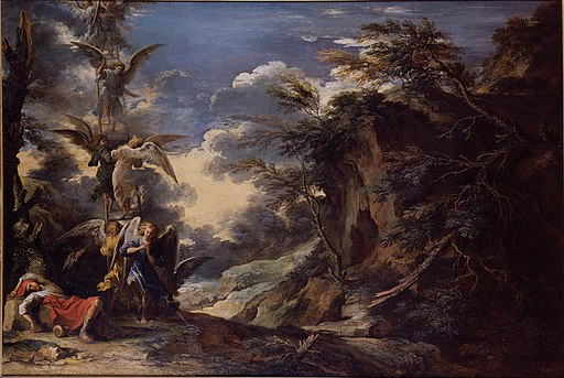 Salvator Rosa, Jacob's Dream, c. 1665, oil on canvas