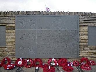 Blue Beach Military Cemetery at San Carlos - Cemetery Inscription