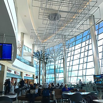 San Diego International Airport - The Sunset Cove dining and shopping area inside Terminal 2
