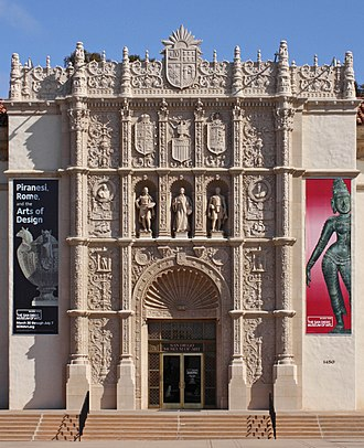San Diego Museum of Art - Façade of the San Diego Museum of Art