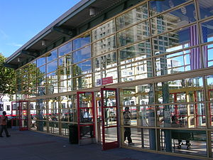 San Francisco 4th and King Street Station - The north side of the station.