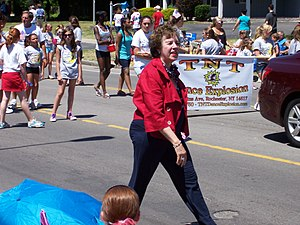 Sandra Frankel - Frankel walking in the 2011 Independence Day parade in Irondequoit, New York