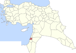 Location of Sanjak of Acre